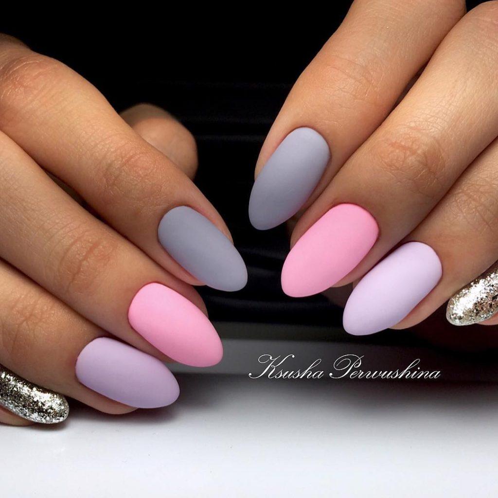 Розовый дизайн ногтей 2018 фото матовый