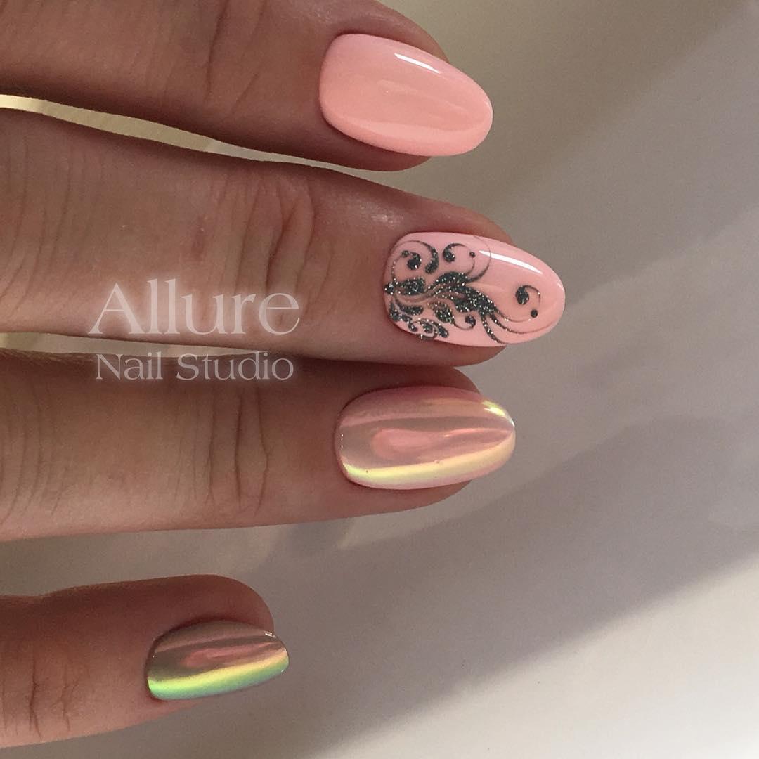 Фиолетовые ногти фото 2018